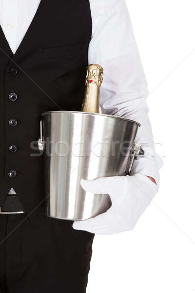 Waiter Holding A Wine Cooler Stock photo © AndreyPopov