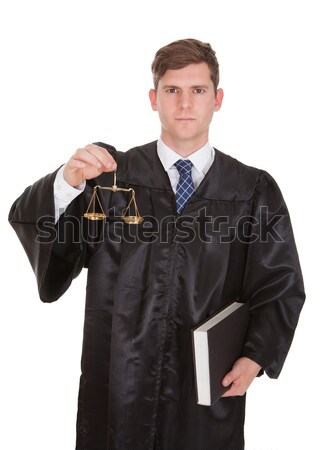 Male Lawyer With Weight Scale And Book Stock photo © AndreyPopov