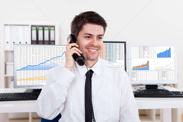 Stock broker in a bull market Stock photo © AndreyPopov