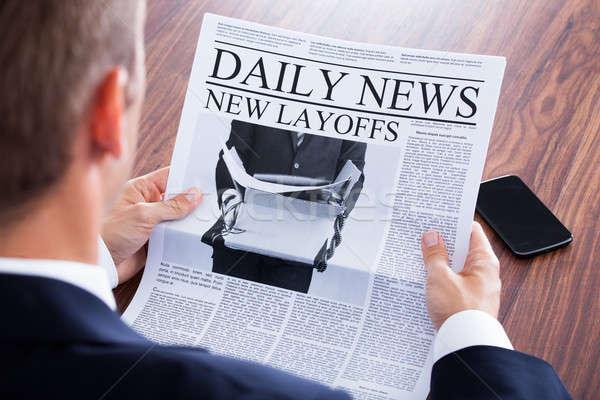 Stock photo: Close-up Of Businessman Reading News