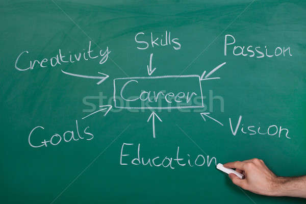 Conceptual Hand Drawn Career Flow Chart Stock photo © AndreyPopov