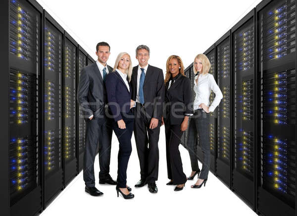 üzleti csapat áll elöl szerver kettő vonalak Stock fotó © AndreyPopov