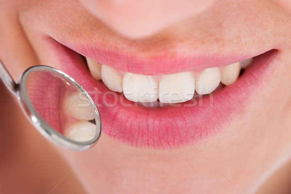 Woman Having Her Dental Checkup Stock photo © AndreyPopov