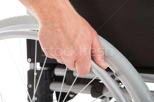 инвалидов человека коляске белый стороны Сток-фото © AndreyPopov