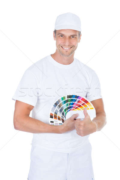 Male Painter With Swatch Book Stock photo © AndreyPopov