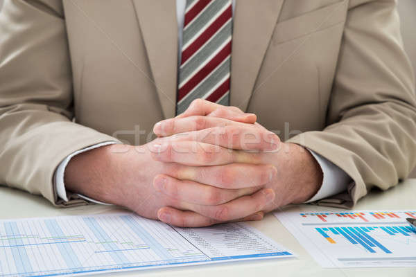 Businessman With Gantt Chart Stock photo © AndreyPopov