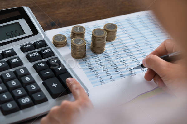 Person Analyzing Financial Report Stock photo © AndreyPopov
