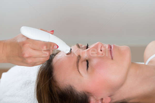 Stock photo: Woman Receiving Microdermabrasion Therapy