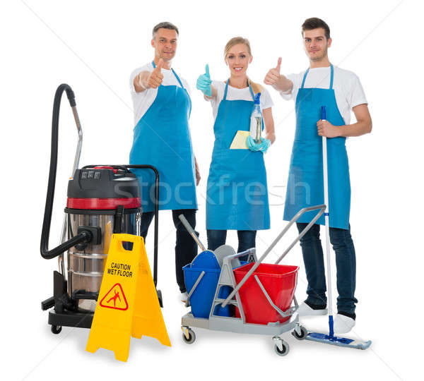 Janitors With Cleaning Equipments Stock photo © AndreyPopov