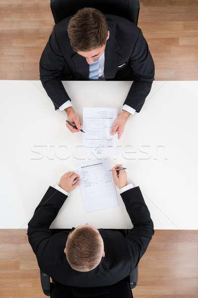 Biznesmen wywiad kandydat biurko bezpośrednio Zdjęcia stock © AndreyPopov