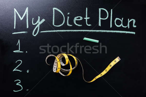 Measuring Tape In Front Of My Diet Plan Text Stock photo © AndreyPopov