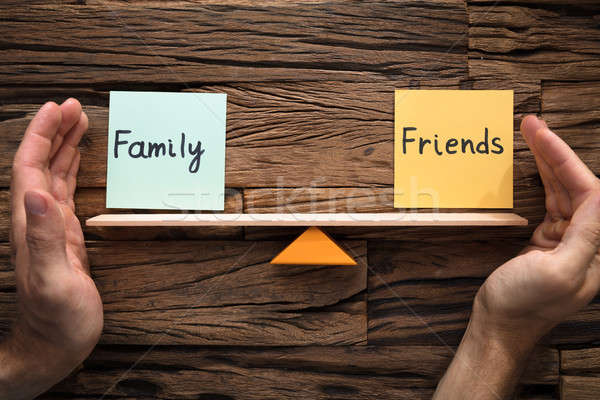 Kezek egyensúly család barátok hinta közelkép Stock fotó © AndreyPopov