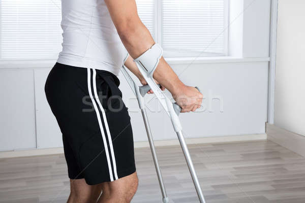 Mid Section View Of A Disabled Person Stock photo © AndreyPopov