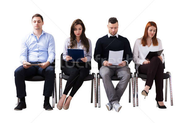 Pessoas de negócios espera entrevista de emprego jovem branco negócio Foto stock © AndreyPopov
