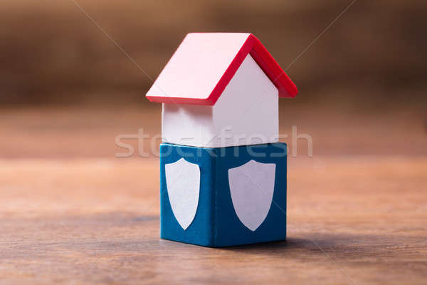 House Model On Security Block Stock photo © AndreyPopov