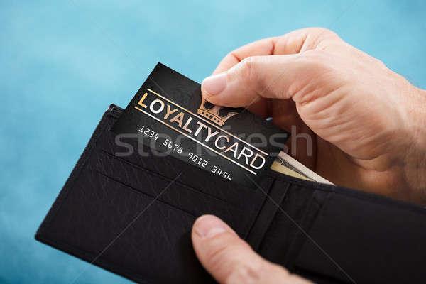 Kişi bağlılık kart cüzdan Stok fotoğraf © AndreyPopov