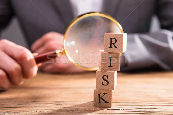 Close-up Of Wooden Blocks With Risk Word Stock photo © AndreyPopov