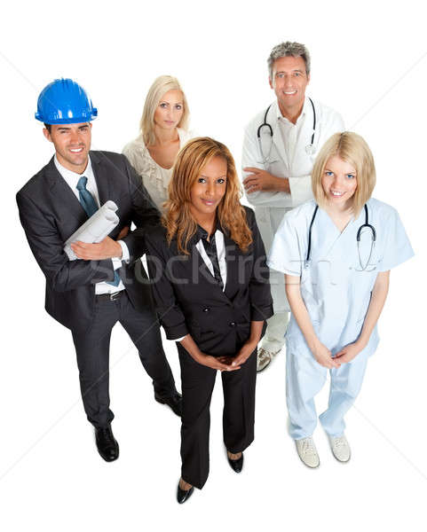 People illustrating different career options Stock photo © AndreyPopov
