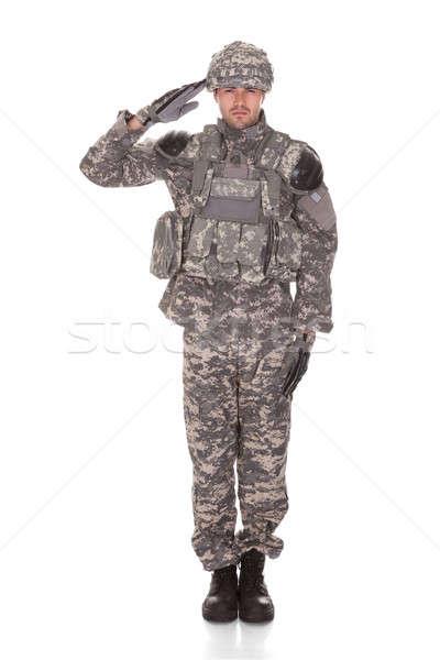 портрет человека безопасности войны солдата Сток-фото © AndreyPopov