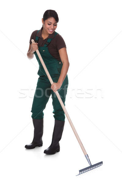 Young Female Gardner With Gardening Tools Stock photo © AndreyPopov