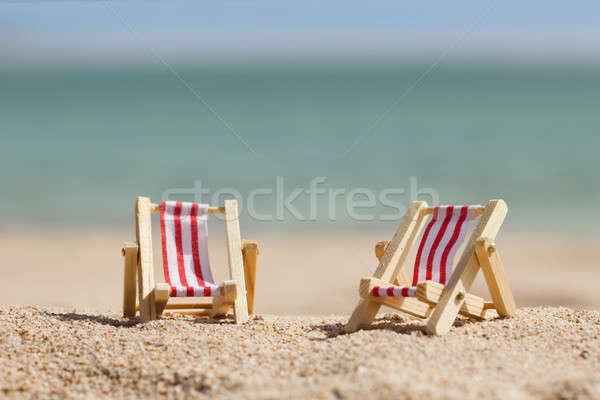 Dois miniatura foto praia praia mar Foto stock © AndreyPopov