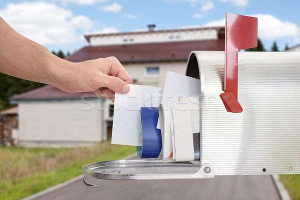 Uomo lettera mailbox primo piano mano Foto d'archivio © AndreyPopov