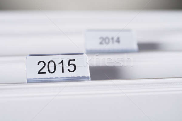 Folders Marked With 2015 And 2014 Stock photo © AndreyPopov
