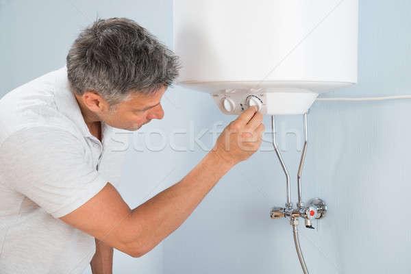 человека температура электрических портрет воды комнату Сток-фото © AndreyPopov