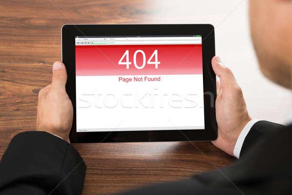 Empresario digital tableta error Screen Foto stock © AndreyPopov