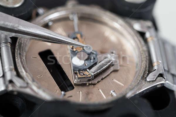 Javít karóra közelkép fotó óra munka Stock fotó © AndreyPopov