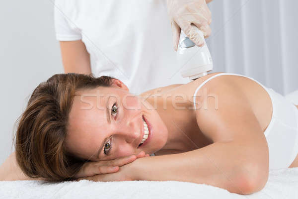 Nő epiláció lézer kezelés fiatal gyönyörű nő Stock fotó © AndreyPopov