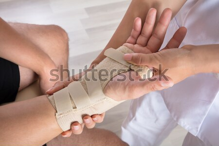 Person's Hand Checking Blood Sugar Level With Glucometer Stock photo © AndreyPopov