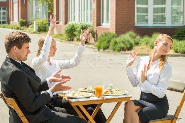 グループ 3  引数 小さな レストラン ストックフォト © AndreyPopov