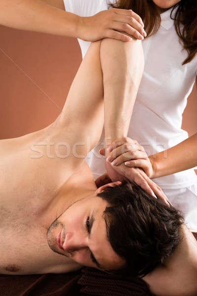 Giovane massaggio spa sport corpo Foto d'archivio © AndreyPopov