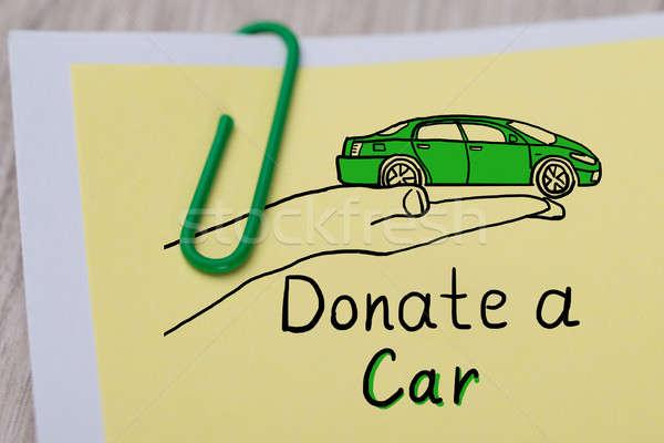Araba bağış metin yazılı Stok fotoğraf © AndreyPopov