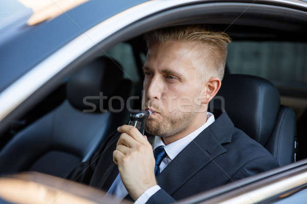 Man Taking Alcohol Text Stock photo © AndreyPopov