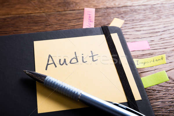 An Audit Diary With Sticky Note Stock photo © AndreyPopov