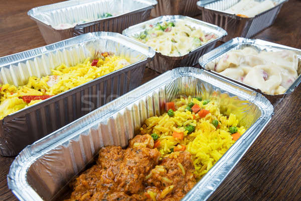 Stock photo: Meal In Take Away Containers