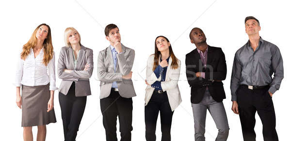 Multi Ethnic Business People Day Dreaming Stock photo © AndreyPopov