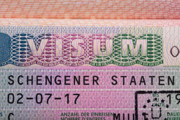 Tekst paspoort veiligheid stempel document Stockfoto © AndreyPopov