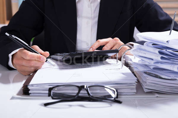 Factuur calculator bureau business Stockfoto © AndreyPopov