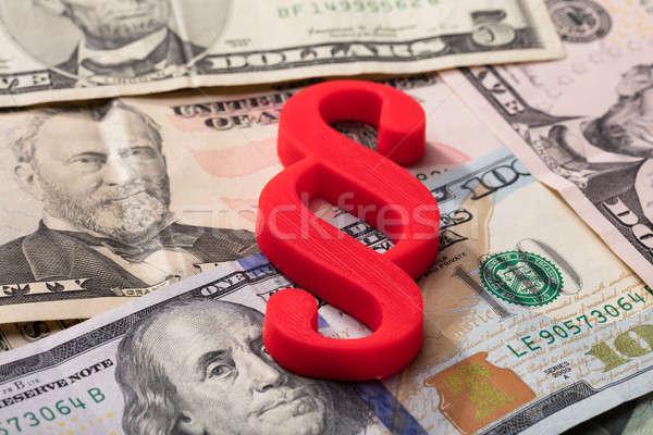 Absatz Symbol Banknoten rot Stock foto © AndreyPopov