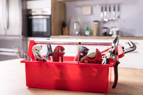 Toolbox With Different Worktools Stock photo © AndreyPopov