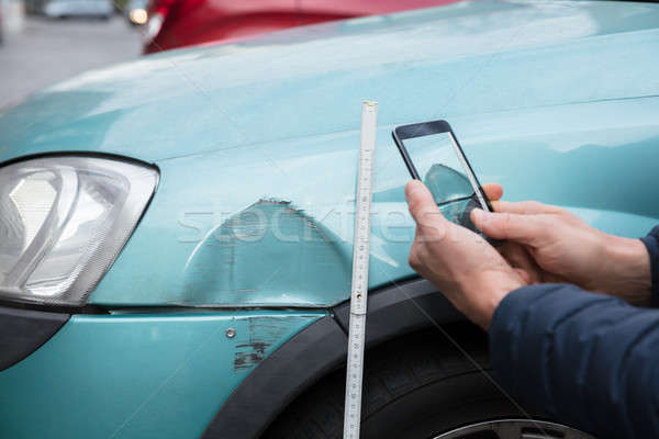 Person Taking Photo Of Car Accident Through Mobile Phone Stock photo © AndreyPopov