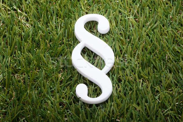 Stock foto: Ansicht · Absatz · Symbol · weiß · grünen · Gras