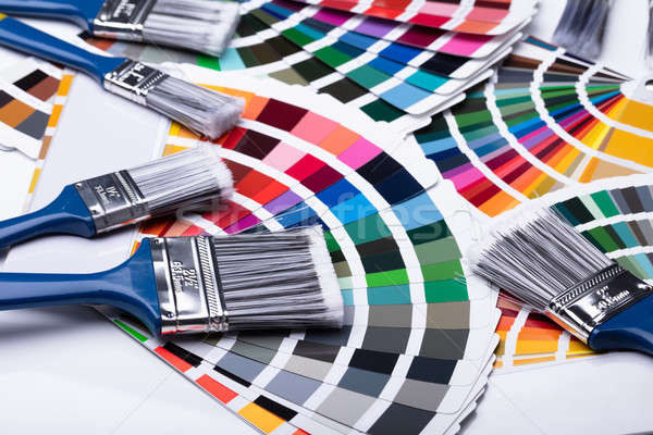 Colorful Swatches And Paintbrush Stock photo © AndreyPopov