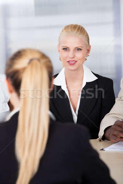 женщины женщину сидят интервью портрет бизнеса Сток-фото © AndreyPopov