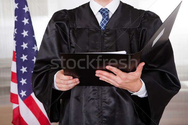 Male Judge In Courtroom Stock photo © AndreyPopov