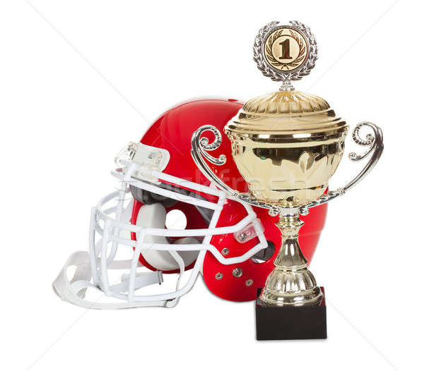 American football helmet and trophy Stock photo © AndreyPopov