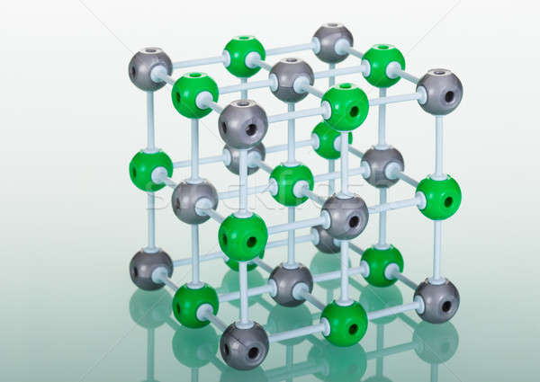 Model of NaCl molecular structure Stock photo © AndreyPopov